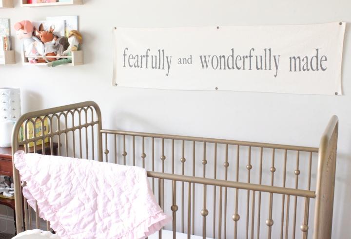 Fearfully and Wonderfully Made NurserySign